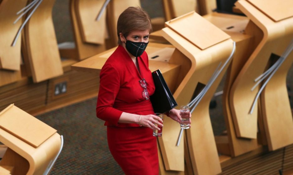 First Minister Nicola Sturgeon. Russell Cheyne/PA Wire.