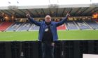 Stuart was part of the Saints TV commentary team at Hampden.