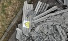 Fly-tipping of asbestos found in Invertiel Road, Kirkcaldy.