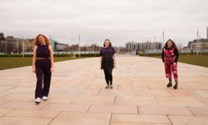 Hannah Watson, Amy Yancouskie and Chelsie Bruce, all students on Kindred Clothing course.