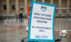 The Caird Hall is being used as one of Tayside's main vaccination centres