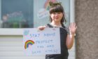Monifieth girl Kayla Reid (9) and her messaging to the world in March 2020
