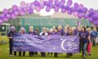 The survivors' walk at the 2019 Arbroath Relay.