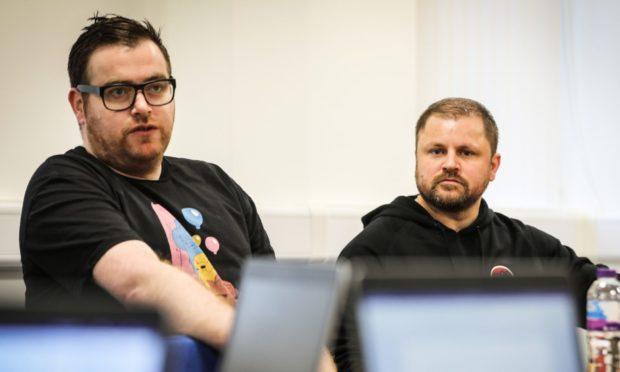 Barry Petrie and David Hamilton from Ninja Kiwi.