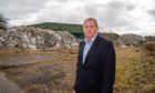 Alex Rowley MSP at the Lathalmond site.
