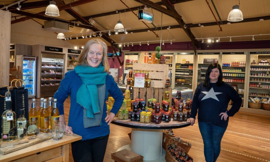 Jane Cox, left, and garden centre manager Annie Kane.
