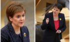 First Minister Nicola Sturgeon and Scottish Conservative Holyrood leader Ruth Davidson clashed at first minister's questions.