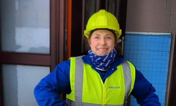 Nicole Pedley is a first year apprentice electrical fitter at Babcock Rosyth.