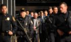 Members of the Gambino family including underboss Domenico Cefalu, centre, are transported from Manhattan to Brooklyn Federal Court by FBI agents on Thursday, February 7, 2008, in New York.