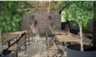 An archirect's impression of the new beer garden.