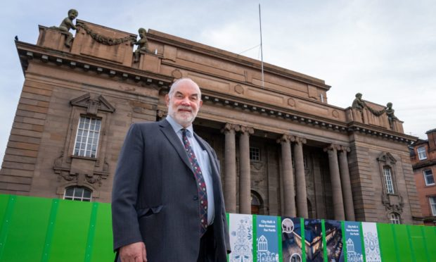 Perth and Kinross Council leader Murray Lyle outside Perth City Hall.