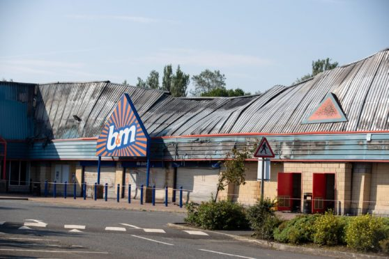B&M after the fire.