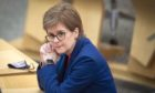 First Minister Nicola Sturgeon during the Covid briefing in Holyrood.