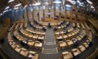 The Scottish parliaments main chamber