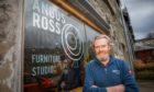 Furniture maker Angus Ross outside his Aberfeldy studio.