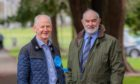 By-election winner Frank Smith with council leader Murray Lyle.