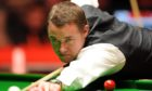 Stephen Hendry competing in his last World Championship in 2012.