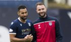 James McPake (right) has learned from helping Kane Hemmings through his dark days at Dens Park.
