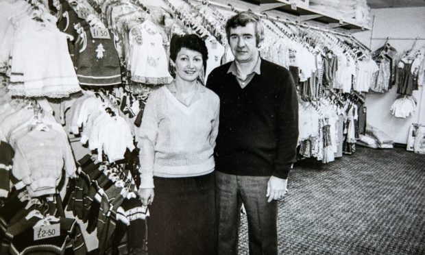 David Stewart in one of his shops in the heyday of the business.