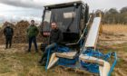 Vicky Turnbull (RSPB), Graham Craig and Jonathan Walker (Harvester)