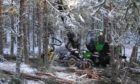 Snow posed a challenge for forestry workers at Seafield Estates in February.