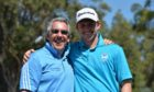 Ian Rae (l) with former amateur international Connor Syme in Australia in 2016.