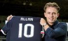 Scott Allan was nearly unveiled as a Dundee player again.