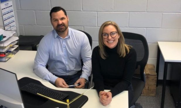 Coast Renewables managing director Mark Robson and recruitment director Carolyn McLaren.