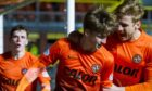 Ryan Gauld and Stuart Armstrong as Dundee United team-mates.
