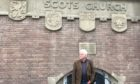 Billy Kay researching Scotland and the Low Countries outside the Scots church in Rotterdam for a recent radio documentary