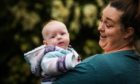 Evie MacGilp with mum Christina Drysdale.