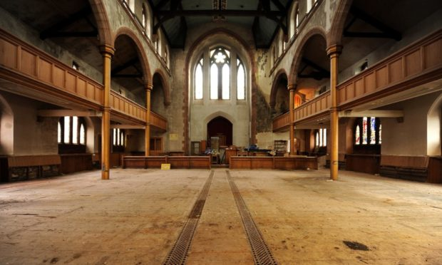 Inside the Old South Church, Crieff