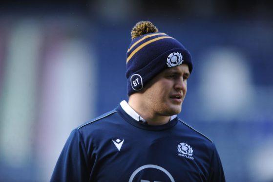 Scotland lock Scott Cummings.