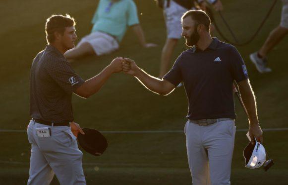 Dustin Johnson and Bryson DeChambeau at the Players last week.