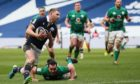 Finn Russell goes in for Scotland's bizarre first-half try.