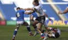 Duhan van der Merwe swats aside Italians as the Scots romped to victory at Murrayfield.