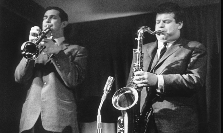 Dundee jazz trumpet legend Jimmy Deuchar and Tubby Hayes performing.