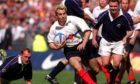 Gregor Townsend couldn't stop the late Christophe Dominici on this occasion in 1999.