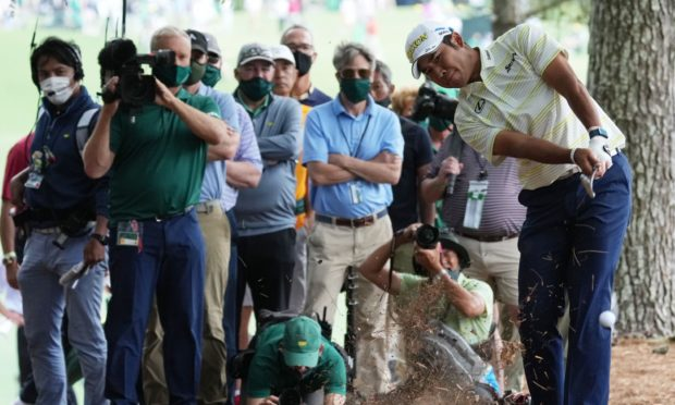There weren't as many cameras on Hideki Matsuyama as usual.