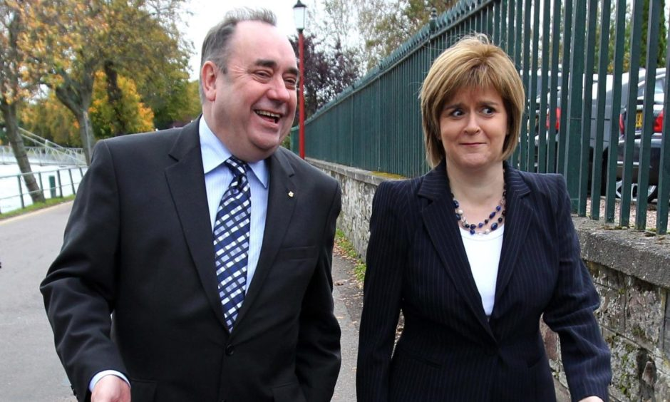 Alex Salmond and Nicola Sturgeon in 2011.