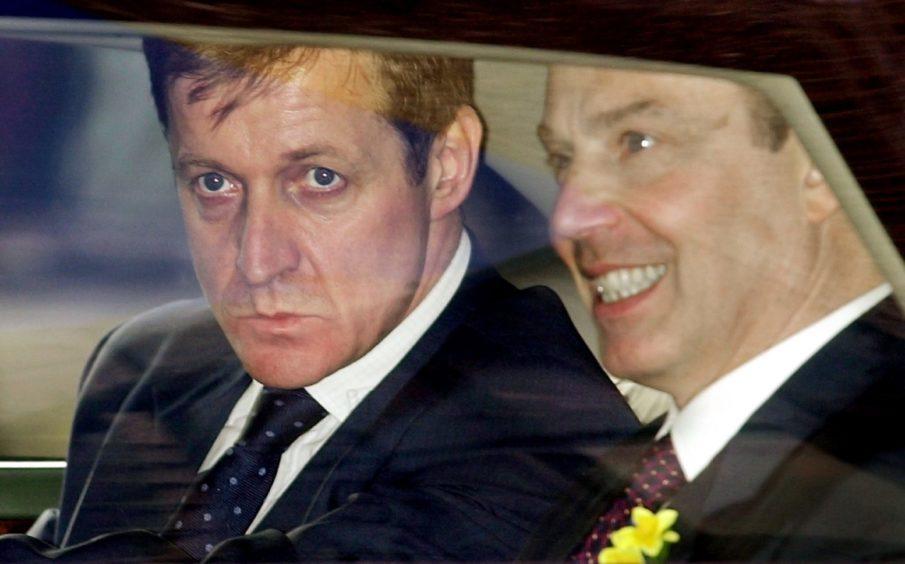 Alastair Campbell and Tony Blair.