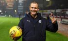 Kenny Miller goes home with a match ball