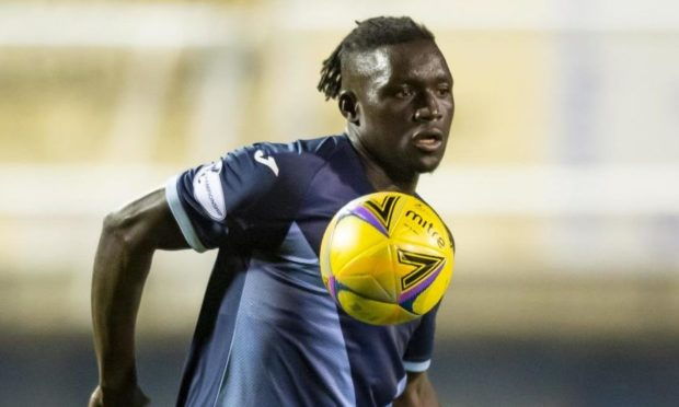 Mendy in action for Raith Rovers.