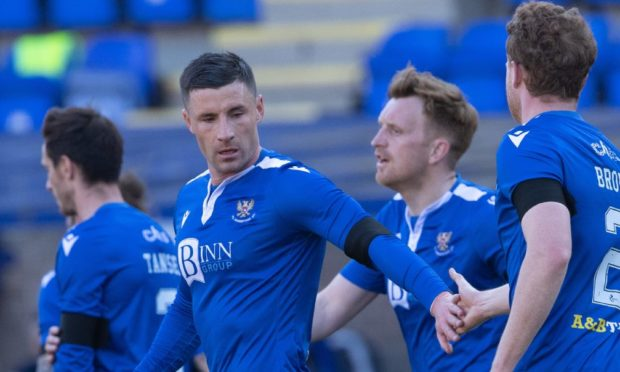Michael O'Halloran celebrates his goal to make it 2-0.