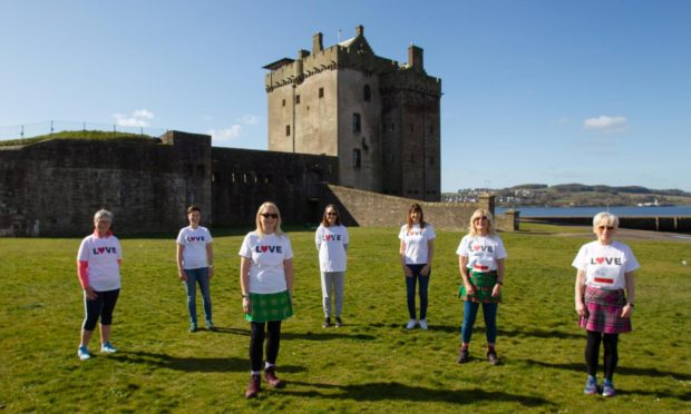 Kiltwalk walkers raising money for Togs.