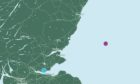 The map on Amazon's website showing its North Sea wind farm.