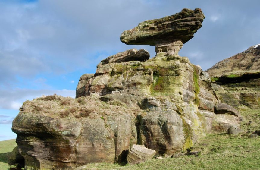 The ancient stones of the Bunnet Stane in West Lomond