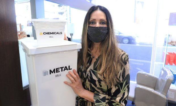 Hairdresser Charlie Taylor has reopened her hair salons as 'green salons'. They are recycling everything including hair and chemicals.