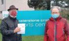 Jonny Tepp and Tim Brett outside the Waterstone Crook sports centre, Newport-on-Tay.