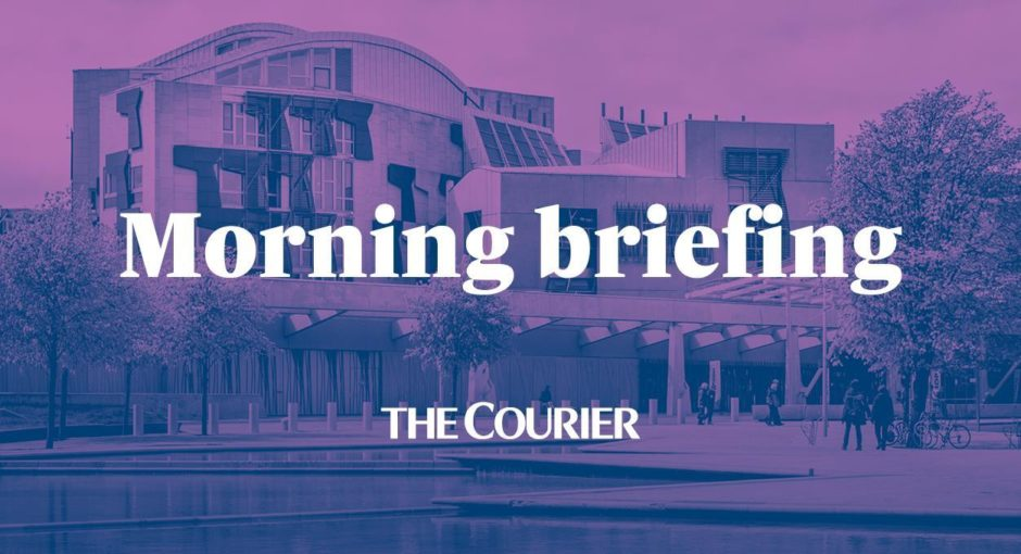 To go with story by Adele Merson. Courier Morning Politics Briefing final graphic. Picture shows; Courier Morning Politics Briefing final graphic.. N/A. Supplied by DCT Media.  Date; Unknown
